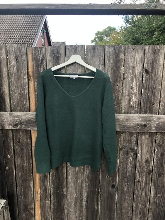 stickad tröja Grön