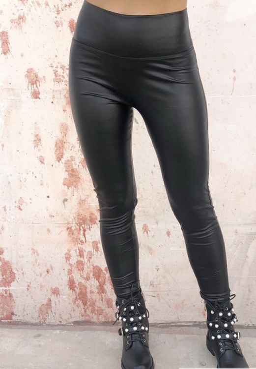 Svarta Lackleggings