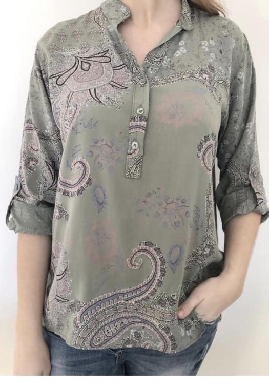 skjorta mönstrad Kakhi grön