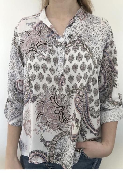 skjorta mönstrad Vit