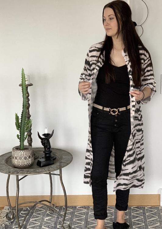 Rosa Zebra klänning/ Kimono