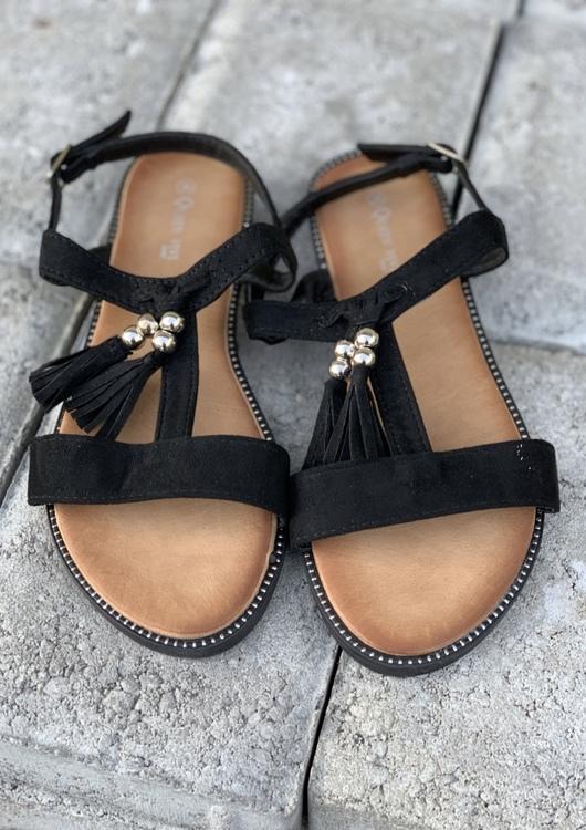 Svart Sandal med toffs