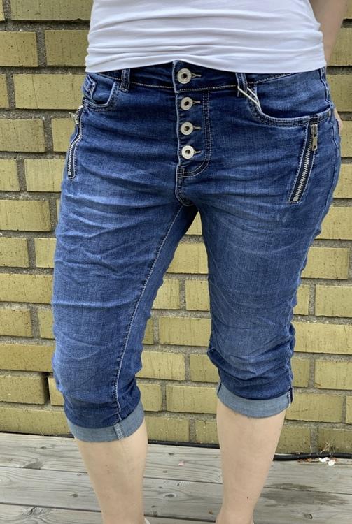 capri jeans mörkblå