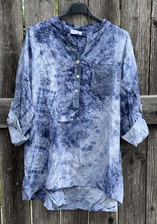 Skjorta batik blå