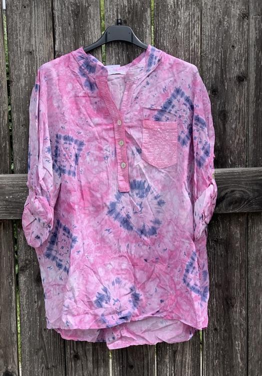 Skjorta batik rosa
