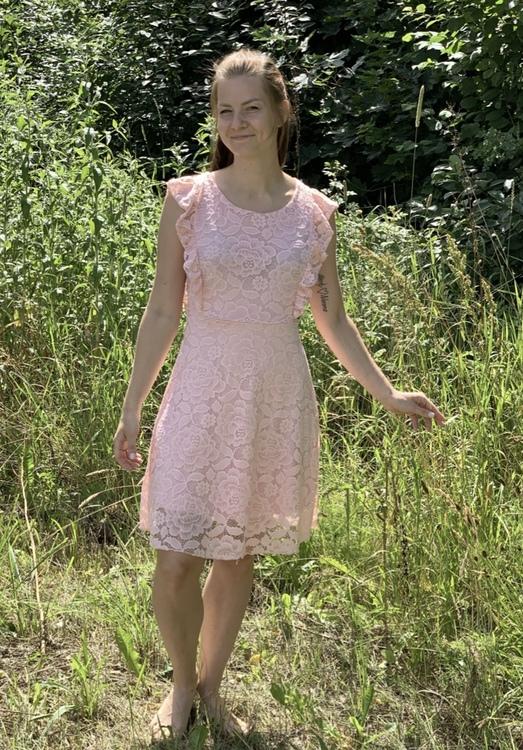 Spetsklänning  Rosa