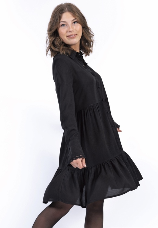 Capri Collection DESTINY SHIRT DRESS BLACK
