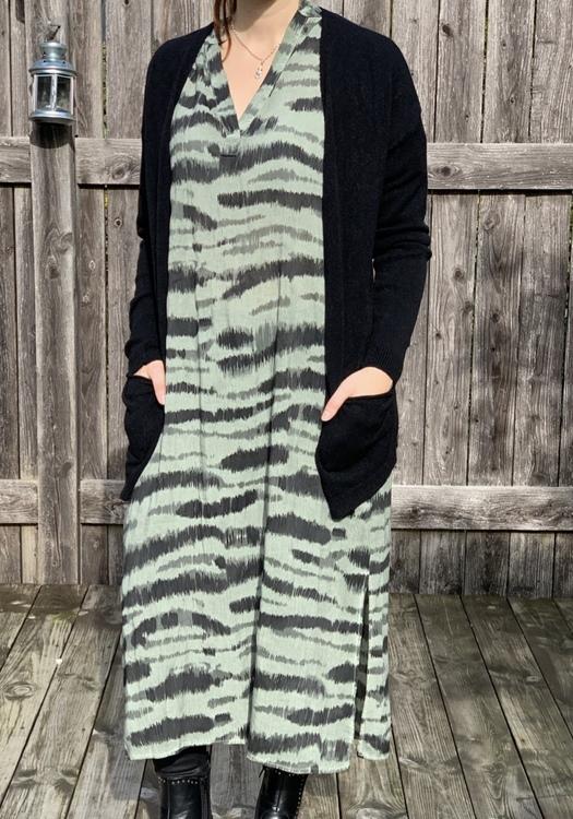 Zebra Mönstrad klänning Army