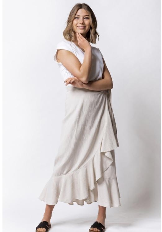 Capri collektion Thalia linne kjol sand