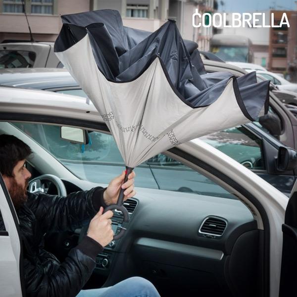 Paraply med omvänd stängning Coolbrella