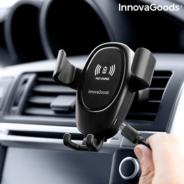Mobilhållare med trådlös laddare till bilen