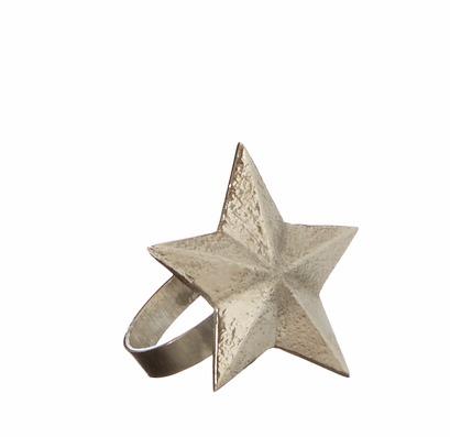 SHIVA Servettring Stjärna Silver