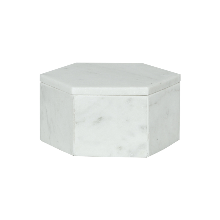 SIGNE Marmorbox vit - Stor