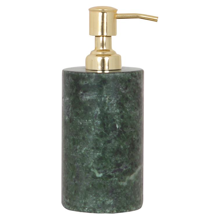 TAGE Tvålpump Marmor - Grön/Mässing