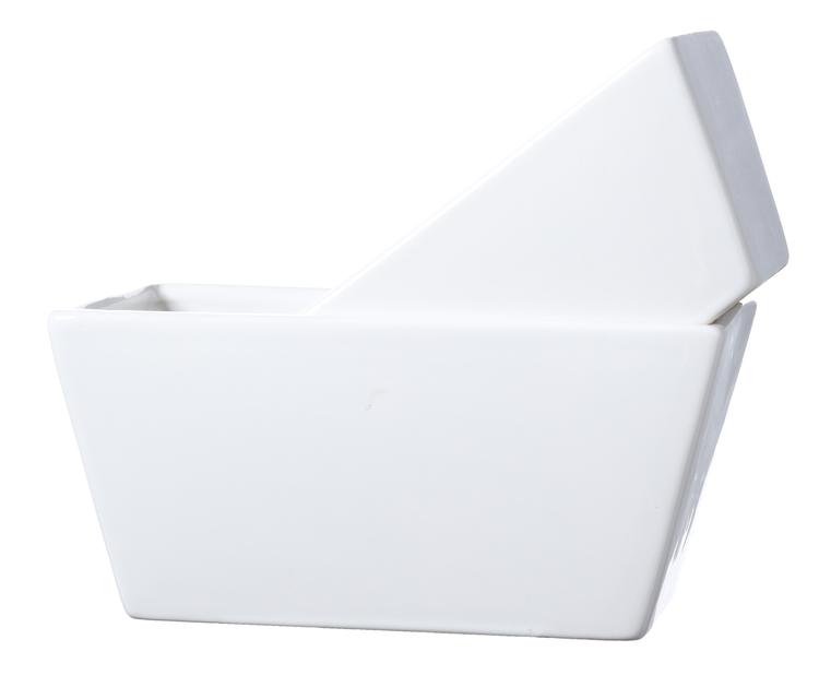 BELINDA Kruka Avlång Vit blank - 2 storlekar