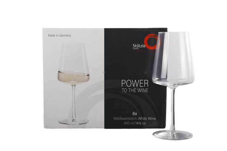POWER Röd/Vitvins glas 6-pack