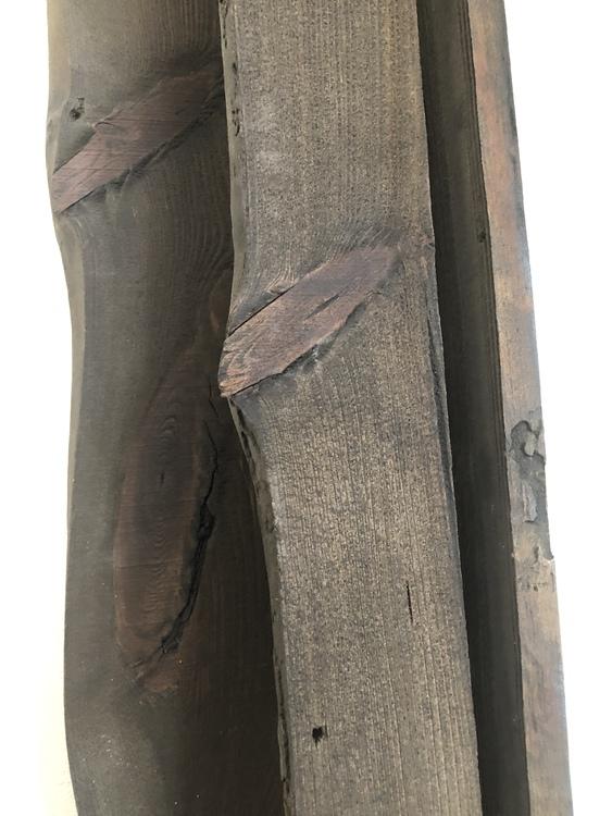 Handgjord Vinhylla Unik för 14 flaskor - Mörkbetsad trä