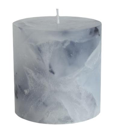 Blockljus Marmor 7,5x7cm 2-pack