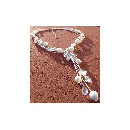 Halsband Vitt