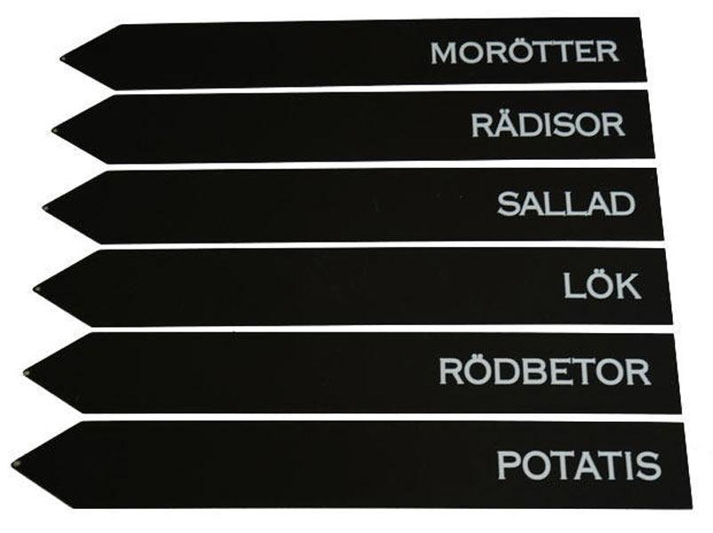 """Odlingsstickor """"Grönsaker"""" 6-pack"""