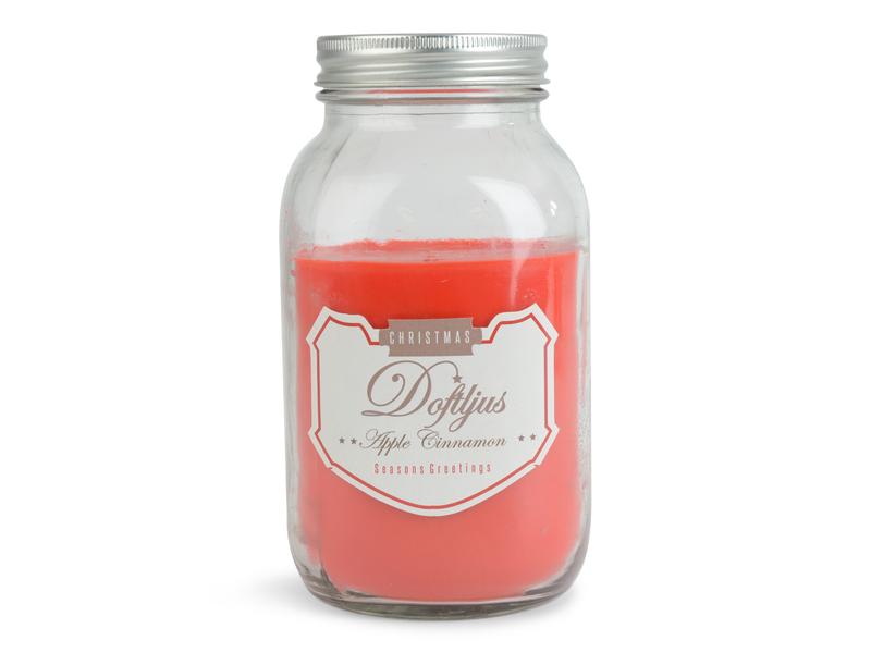 Doftljus i glas med lock Äpple & Kanel