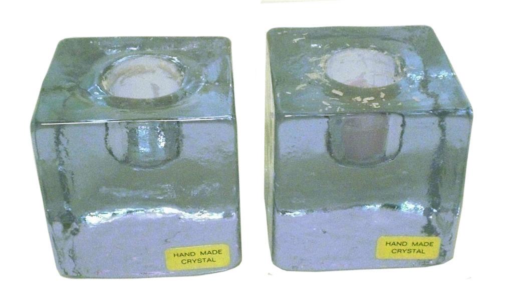 Ljusstake i kristall 2-pack