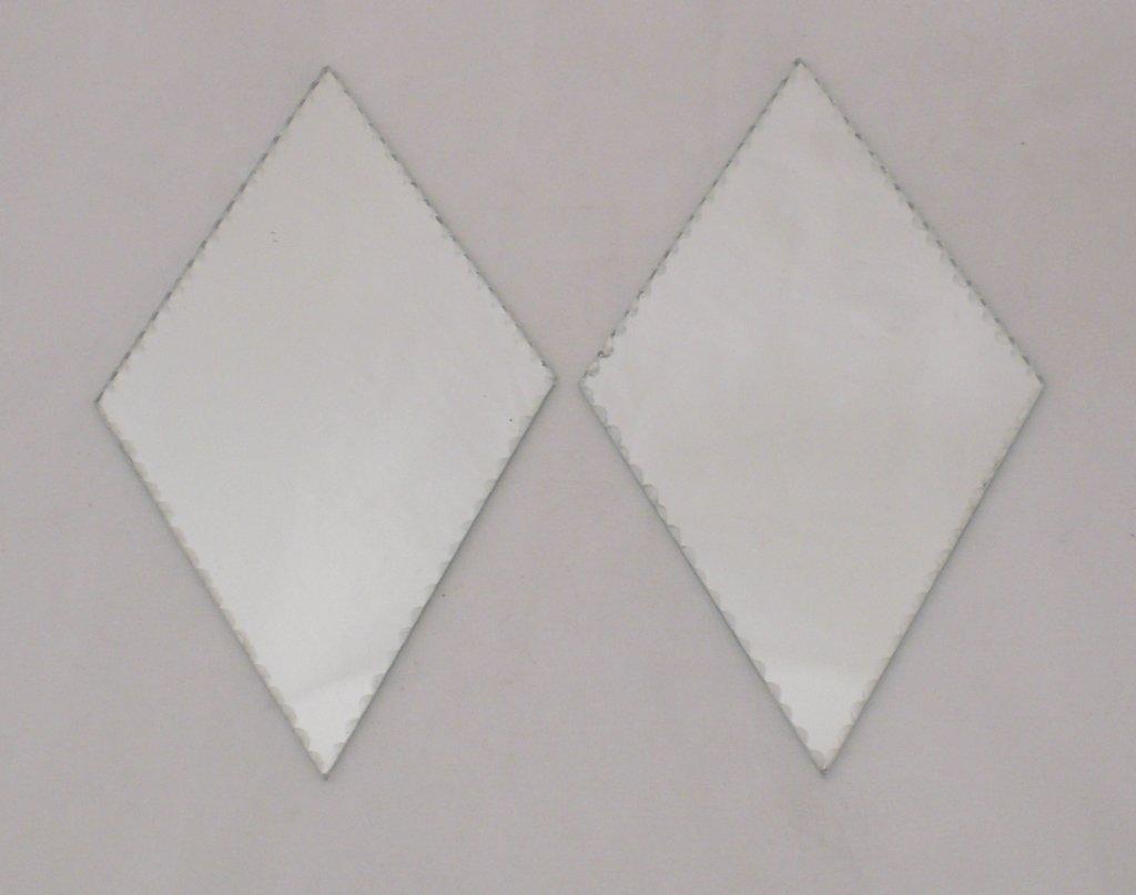 Fasettslipad Spegel 2-pack