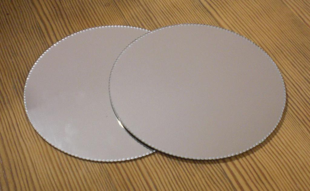 Spegelfat underlägg dekoration spegel ljusfat shabby 2-pack