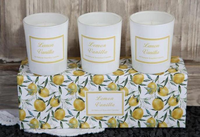Doftljus Citron&Vanilj x 3