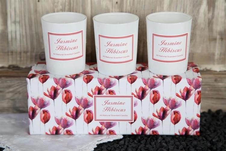 Doftljus Jasmine & Hibiscus x 3