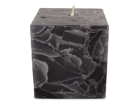 Blockljus Marmorerad Kub 7,5x7cm 2-pack