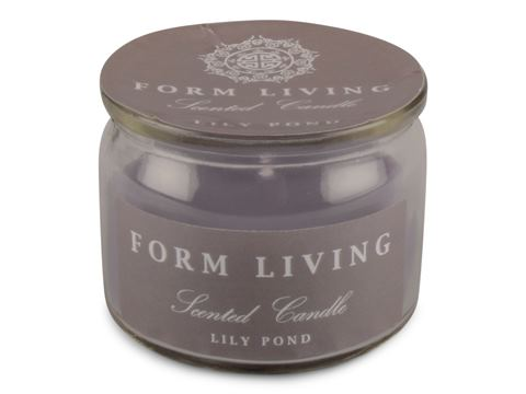 Doftljus i glas med lock Lily pond 2-pack