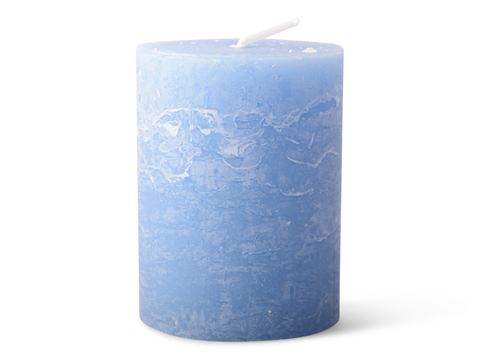 Blockljus, 7x9 cm 3-pack Himmelsblå