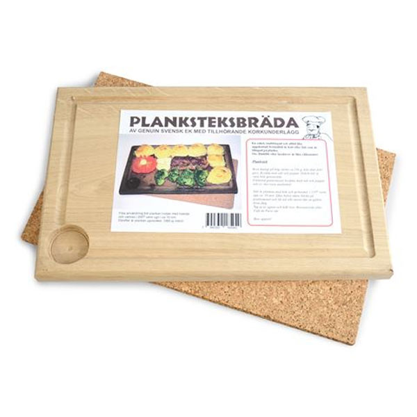 Planksteksbräda i Ek med underlägg