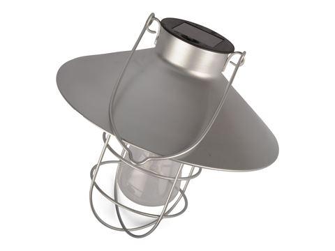 Lampa Solcell Hängande Silver