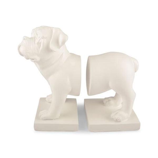 Dekoration hund bokstöd