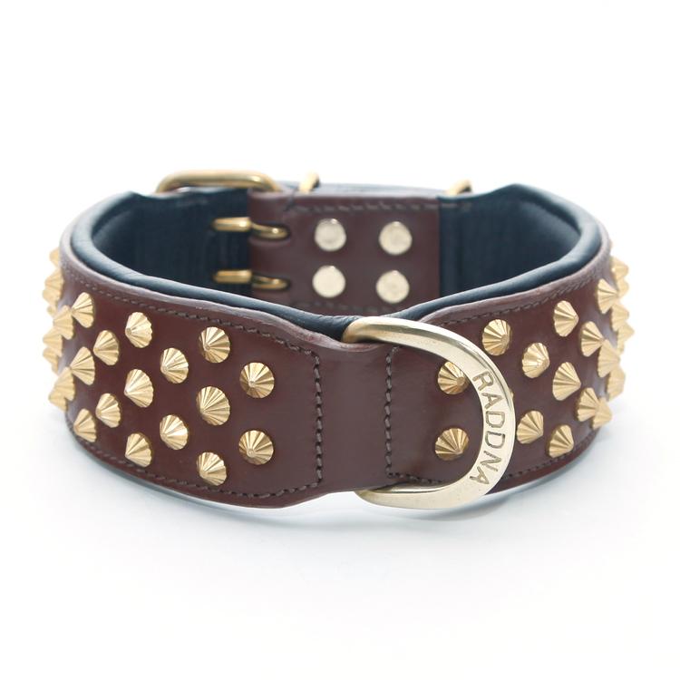 Kalix Mini Hundhalsband - Brunt/Mässing