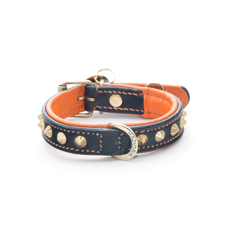 Poppy Hundhalsband -  Orange Brass