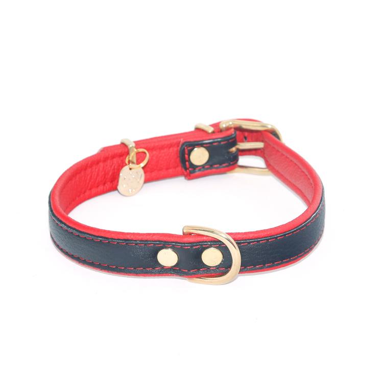Jokkmokk Hundhalsband - Röd Älgskinn
