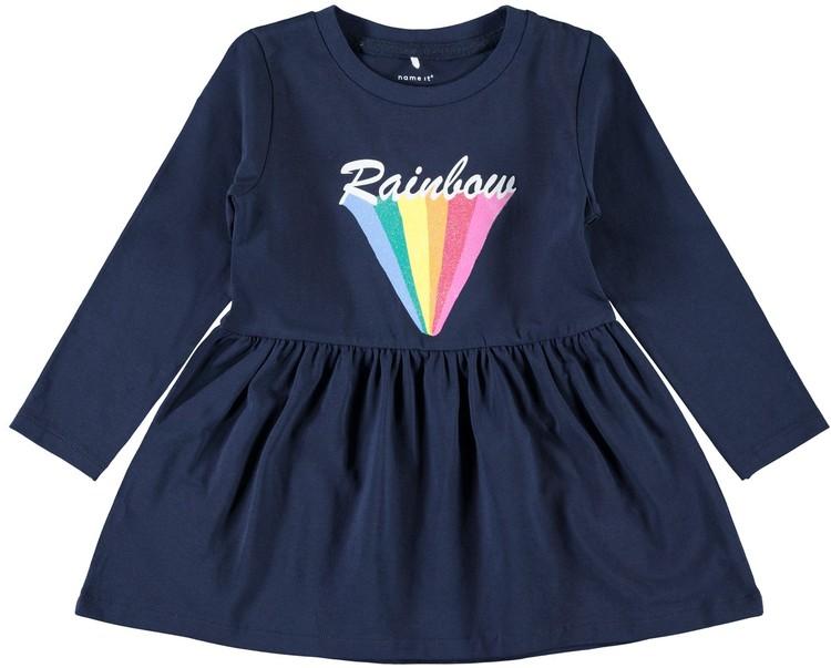 Klänning med regnbåge 80-110