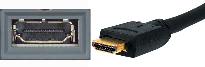 HDMI bildexempel, HDMI-uttag, HDMI-kabel