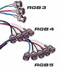 Exempelbild olika typer av RGB-kablar