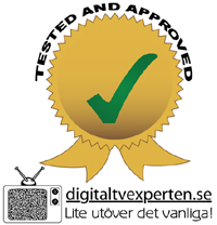 Digitaltvexperten ''Tested and approved'' sigill