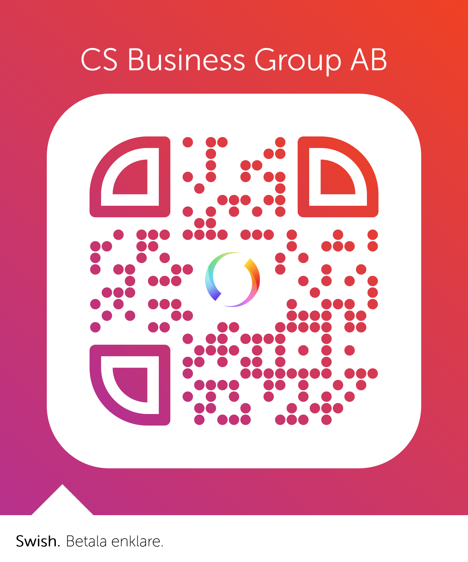 Swish QR-kod CS Business Group AB