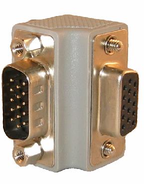 Vinkel VGA kontakt uppåt / höger