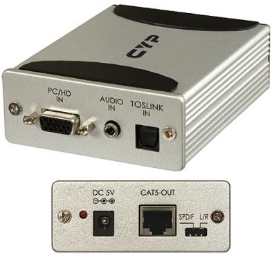 VGA / Komponent över CAT5 med ljud.