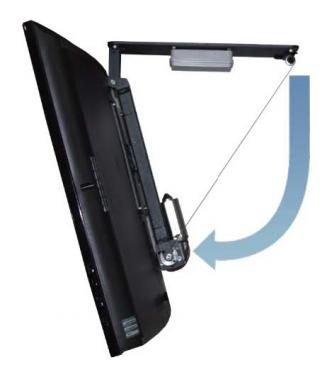 Motorstyrt takfäste Plasma / LCD 75kg