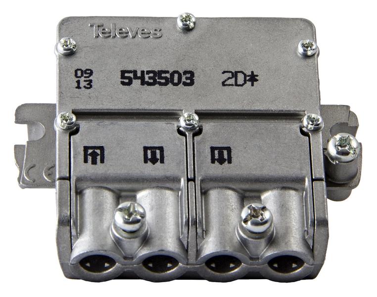 5435 F-smart PRO splitter 1:2 DC-PASS mini