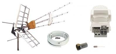 DAT-HD Mix m. LTE 16db Förstärk.paket 220V 20m