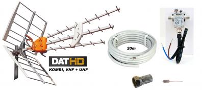 DAT-HD Mix m. LTE 16db Förstärk.paket 12V 20m